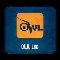 Black lettering that spells owl