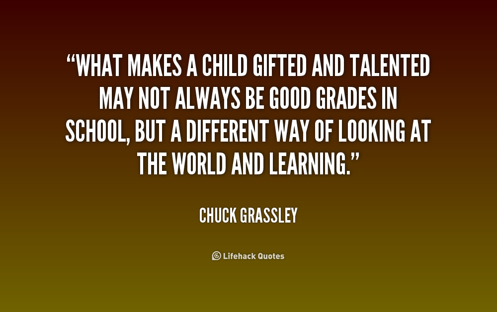 Quote About Gifted Children