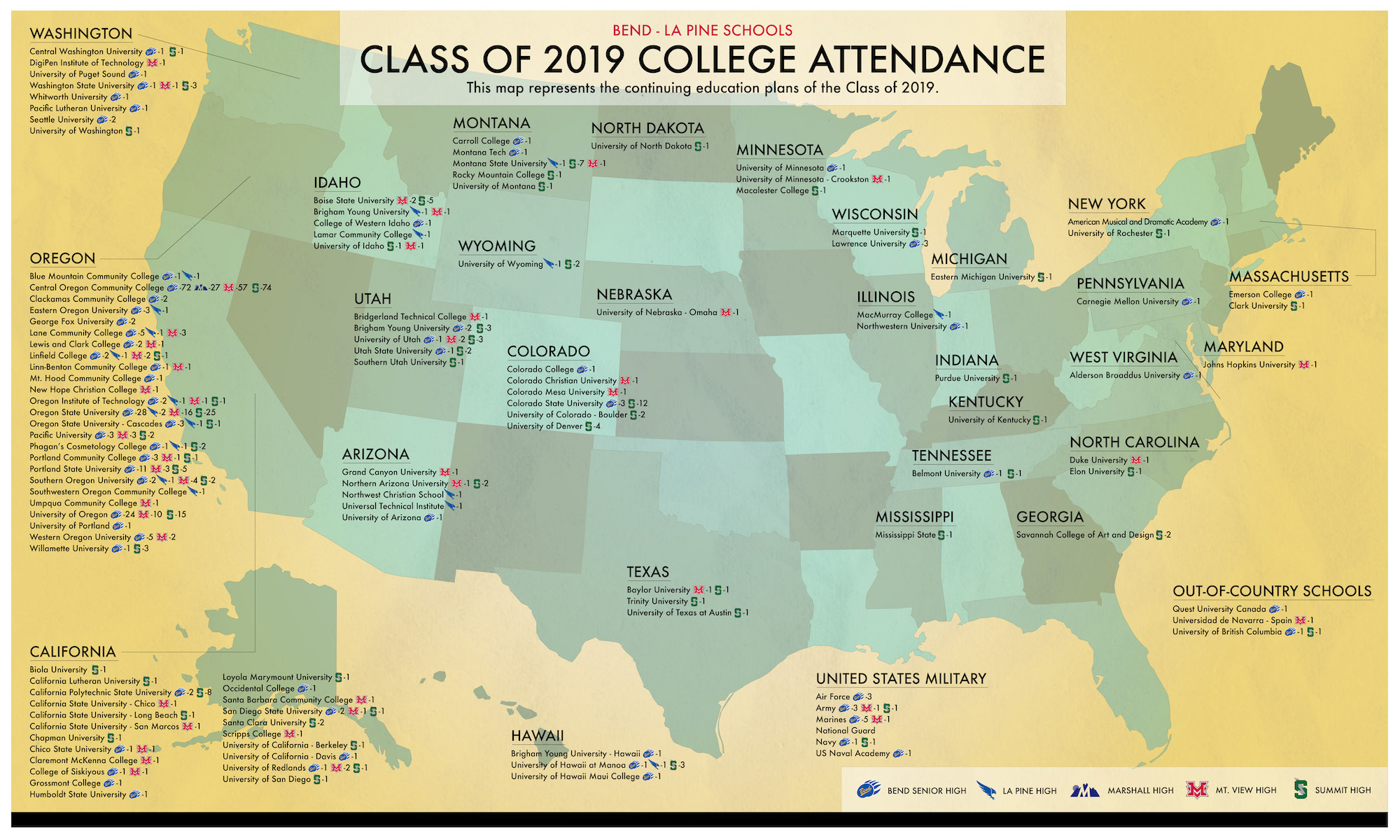 Colorado Colleges And Universities Map