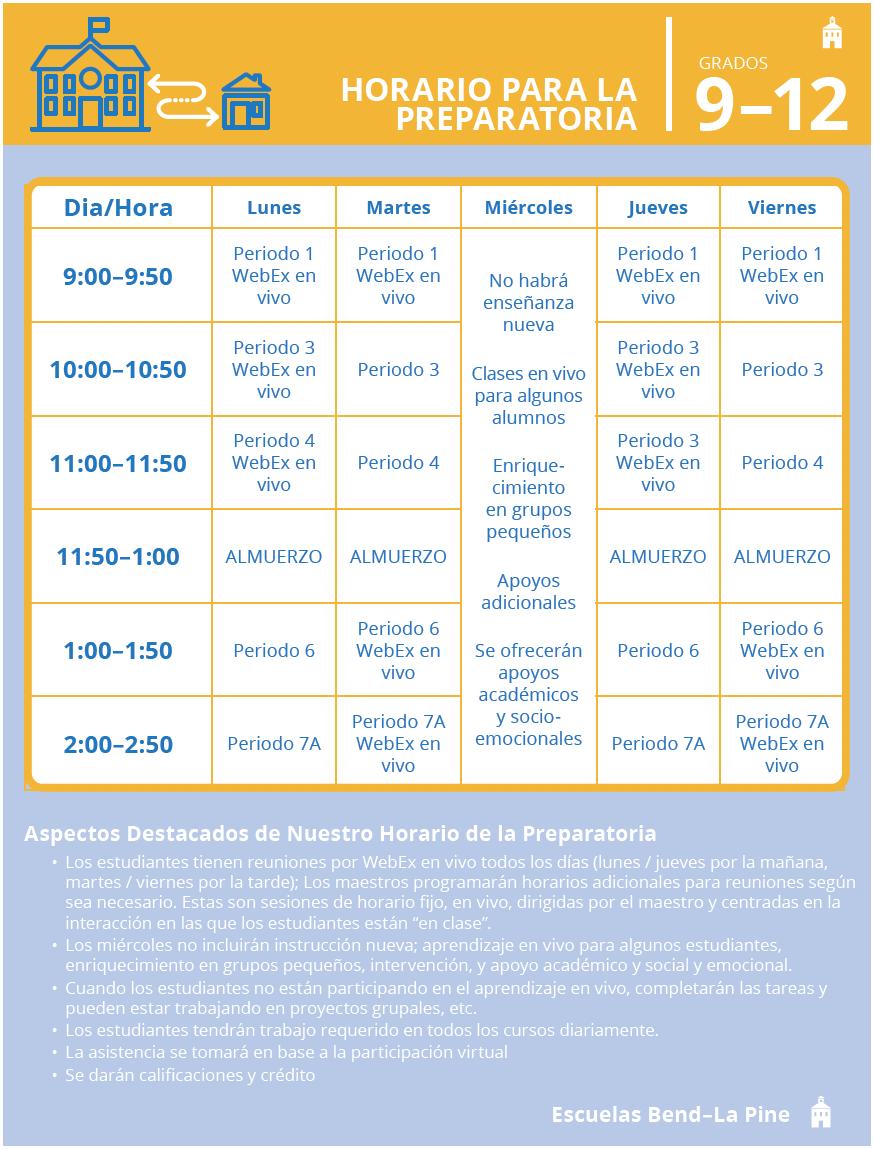 grade 9-12 schedule