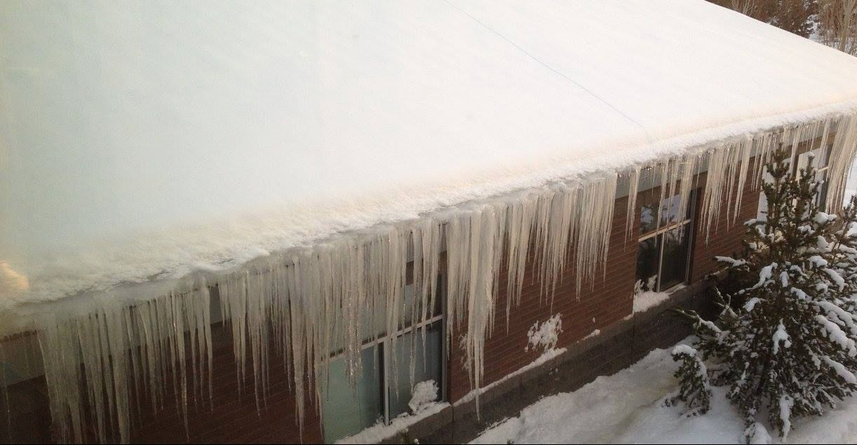 Sky View Middle School icicles
