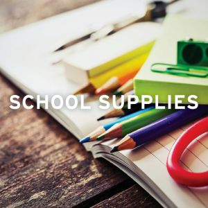 Suggested supplies for September 2018
