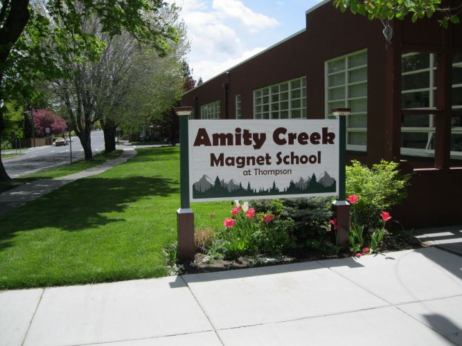 Amity Creek Magnet at Thompson School exterior